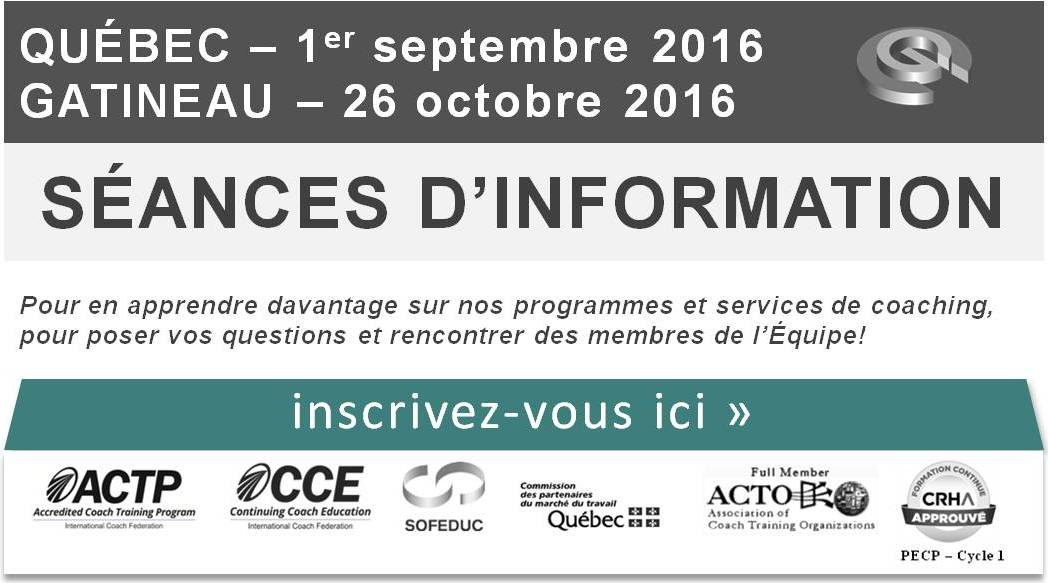 Séances d'information - Coaching de Gestion